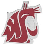 "Washington State Cougars 2"" NCAA Trailer Hitch Receiver Cover - Zinc"