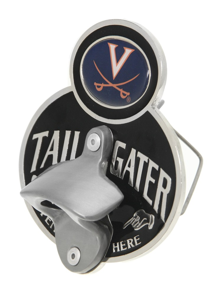 virginia cavaliers ncaa tailgater hitch cover with bottle opener 2 hi. Black Bedroom Furniture Sets. Home Design Ideas