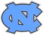 "North Carolina Tar Heels 2"" NCAA Trailer Hitch Receiver Cover - Zinc"