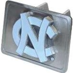 "North Carolina Tar Heels ""NC"" Logo Trailer Hitch Receiver Cover"