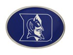 "Duke Blue Devils 2"" NCAA Trailer Hitch Receiver Cover - Oval Face - Zinc"