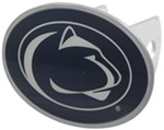 "Penn State Nittany Lions 2"" NCAA Trailer Hitch Receiver Cover - Oval Face - Zinc"