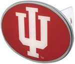 "Indiana Hoosiers 2"" NCAA Trailer Hitch Receiver Cover - Oval Face - Zinc"