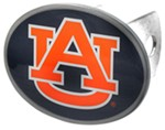 "Auburn Tigers 2"" NCAA Trailer Hitch Receiver Cover - Oval Face - Zinc"