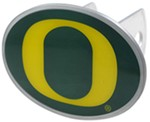 "Oregon Ducks 2"" NCAA Trailer Hitch Receiver Cover - Oval Face - Zinc"