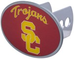 "USC Trojans 2"" NCAA Trailer Hitch Receiver Cover - Oval Face - Zinc"
