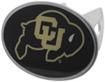 "Colorado Buffaloes 2"" NCAA Trailer Hitch Receiver Cover - Oval Face - Zinc"