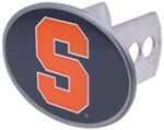 "Syracuse Orange 2"" NCAA Trailer Hitch Receiver Cover - Oval Face - Zinc"