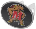 "Maryland Terrapins 2"" NCAA Trailer Hitch Receiver Cover - Oval Face - Zinc"