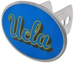 "UCLA Bruins 2"" NCAA Trailer Hitch Receiver Cover - Oval Face - Zinc"
