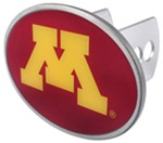"Minnesota Golden Gophers 2"" NCAA Trailer Hitch Receiver Cover - Oval Face - Zinc"