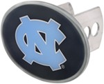 "UNC Tar Heels 2"" NCAA Trailer Hitch Receiver Cover - Oval Face - Zinc"