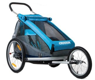 Croozer with jogging wheel installed