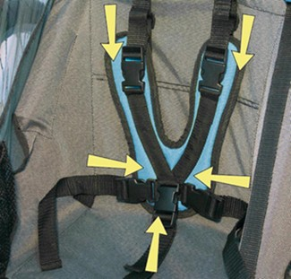Croozer padded seat harness