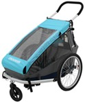Croozer Kid 1 Child Carrier - 3-in-1 Bike Trailer, Stroller and Jogger - 1 Child - Blue/Gray/Black
