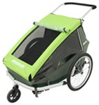 Croozer Kid 2 Child Carrier - 3-in-1 Bike Trailer, Stroller and Jogger - 2 Child - Green/Gray/Black