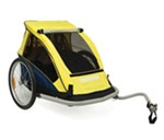 Croozer Kid C1 Bike Trailer - 2 Child - Black/Yellow/Navy