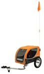Croozer Mini Dog Carrier - Bike Trailer and Stroller - Orange and Gray - Dogs up to 45 lbs