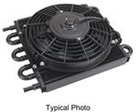 Derale Dyno-Cool Remote Cooler with Fan and Hose Barb Inlets - Class IV