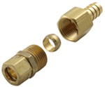 "Derale Transmission Line Compression Fitting Kit - 1/2"" Line to 1/2"" NPT Barb"