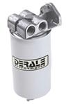 Derale Fuel Filter and Water Separator Kit - Single Mount with Side Ports