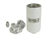 Derale Fuel Filter and Water Separator Kit - Single Mount with Ports Up