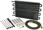 Derale Series 7000 Tube-Fin Transmission Cooler Kit w/ AN Inlets - Class IV - Standard