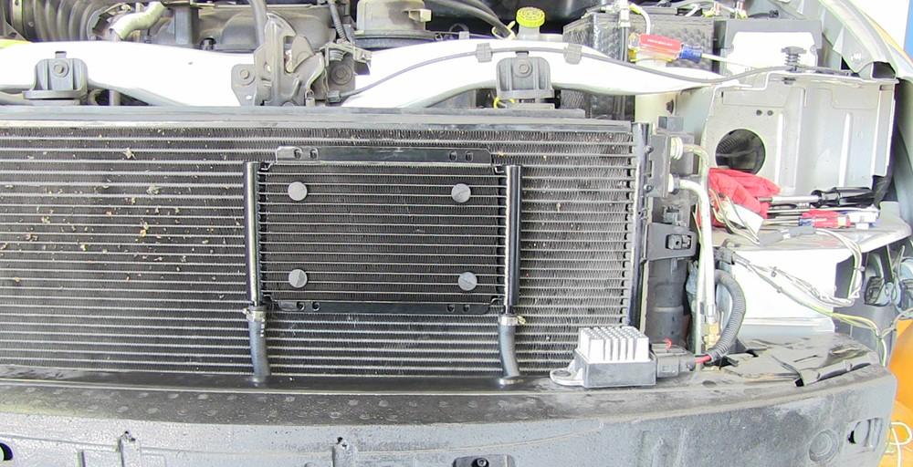 dodge ram transmission oil cooler location
