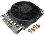 Derale Electra-Cool Combo Engine and Transmission Cooler Assembly w/ Fan, -8 AN Inlets - 4 Pass