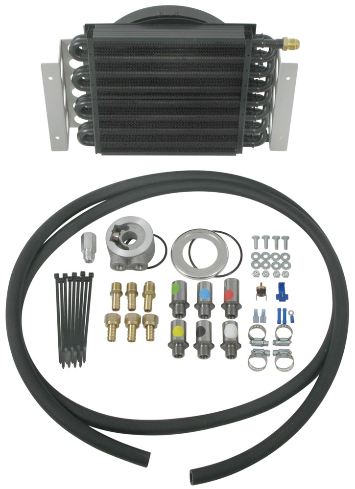 Engine Oil Cooler : Derale pass electra cool remote engine oil cooler kit w