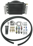 Derale 16-Pass Electra-Cool Remote Engine Oil Cooler Kit w/ Fan, -8 AN Inlets - Class II