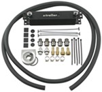 Derale Stacked-Plate Engine Oil Cooler Kit w/ Non-Thermostatic Sandwich Adapter - Class III