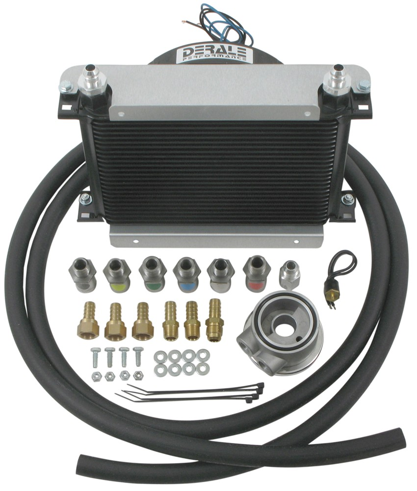 Engine Oil Cooler : Derale hyper cool remote engine cooler kit w fan an