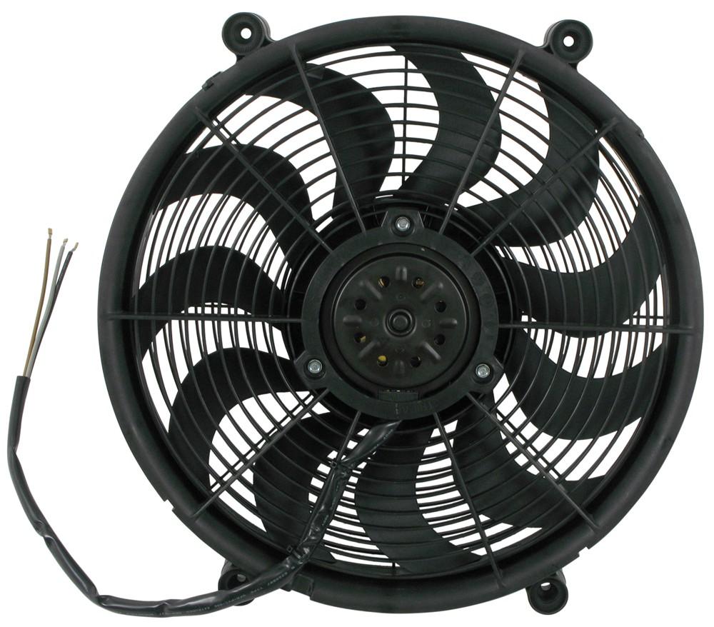 Electric Radiator Fan : Derale quot high output electric single radiator fan