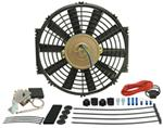 "Derale 12"" Dyno-Cool Straight-Blade Electric Fan with Thermostat Control - 750 CFM"