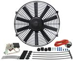 "Derale 14"" Dyno-Cool Straight-Blade Electric Fan with Thermostat Control - 1,100 CFM"