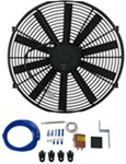 "Derale 16"" Dyno-Cool Straight-Blade Electric Fan with Thermostat Control - 1,550 CFM"