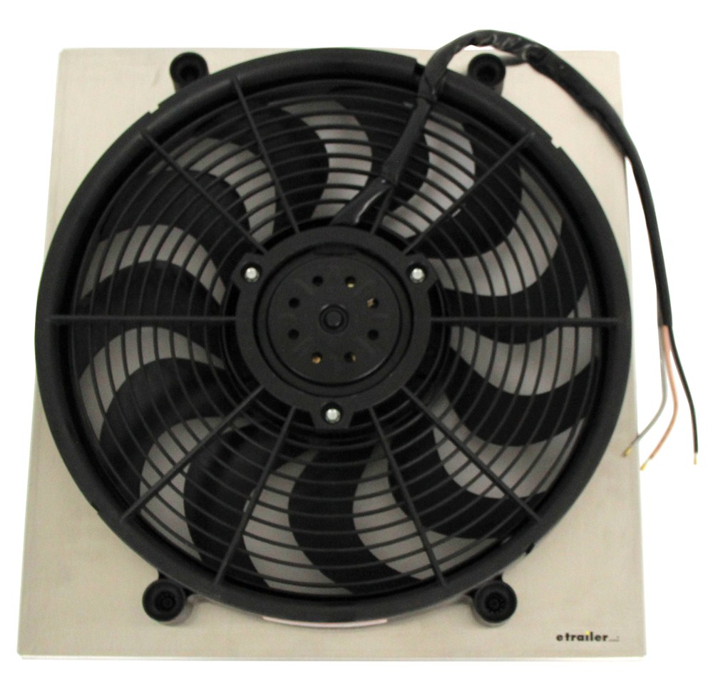 Electric Radiator Fan : Derale quot high output electric radiator fan w aluminum