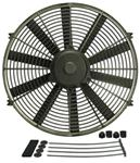 "Derale 16"" Dyno-Cool Straight-Blade Electric Fan - 1,550 CFM"