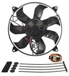 "Derale 12"" High-Output, Electric Radiator Fan-and-Shroud Assembly - 1,650 CFM"