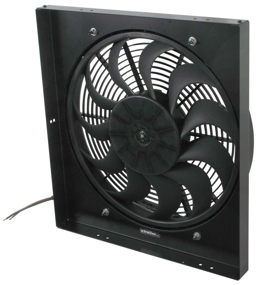 Electric Radiator Fan : Derale quot high output electric radiator fan and shroud