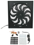 "Derale 19"" High-Output, Electric Radiator Fan-and-Shroud Assembly - 2,400 CFM"