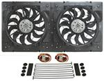 "Derale 32"" High-Output, Electric Radiator Fan-and-Shroud Assembly - 4,000 CFM"