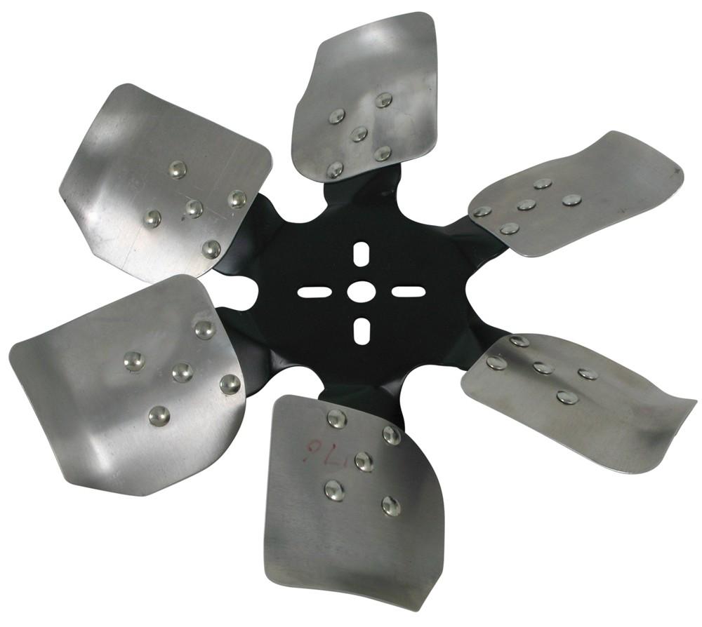 Replacement Aluminum Fan Blades : Derale quot rigid aluminum blade race fan belt driven