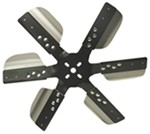 "Derale 15"" Stainless Steel Flex Fan, Black - Belt Driven - 10,000 RPM - Reverse Rotation"
