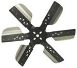 "Derale 17"" Stainless Steel Flex Fan, Black - Belt Driven - 10,000 RPM - Reverse Rotation"