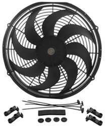 "Derale 10"" Dyno-Cool Curved-Blade Electric Fan - 590 CFM"