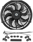 "Derale 12"" Dyno-Cool Curved-Blade Electric Fan - 810 CFM"