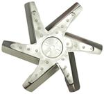 "Derale 15"" High-Performance, Stainless Steel Flex Fan, Chrome - Belt Driven - 8,000 RPM"