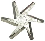 "Derale 17"" High-Performance, Stainless Steel Flex Fan, Chrome - Belt Driven - 8,000 RPM"